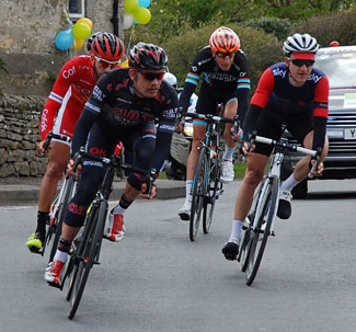 Breakaway group of cyclists on the Tour de Yorkshire Cropton 2015