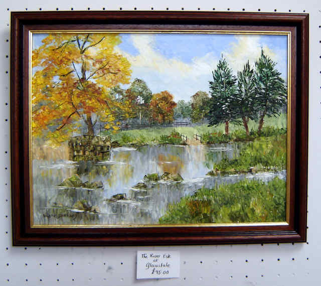 Glaisdale painting by artist Valerie Barnaby from the studio cropton