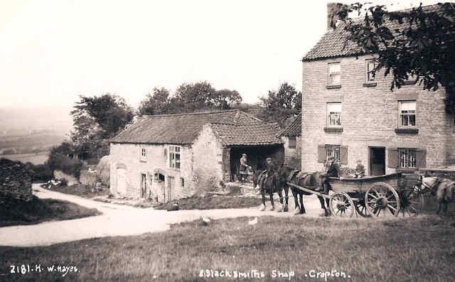 blacksmiths shop cropton old photo