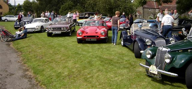cars on show at cropton vintage car and motorcycle rally