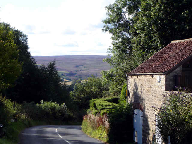 View from cropton bank top of north york moors
