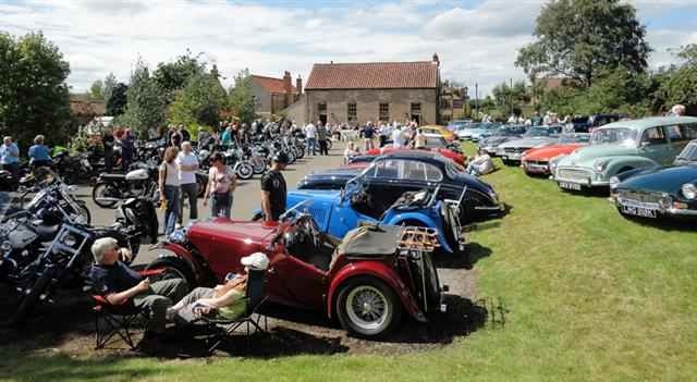 relaxing at cropton vintage car rally 2011