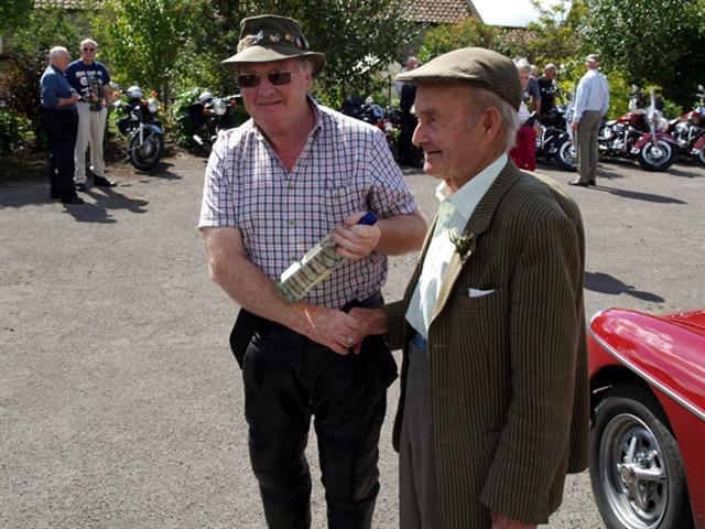 presentation by norman headley to best car at cropton vintage rally 2010