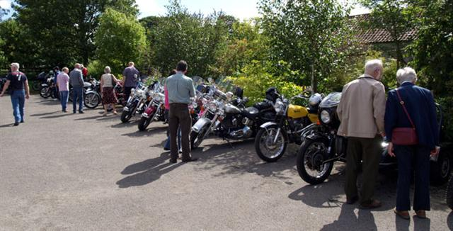 motor bikes at cropton vintage rally 2010