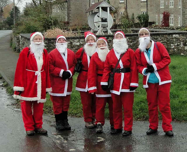 six santas in cropton north yorkshire