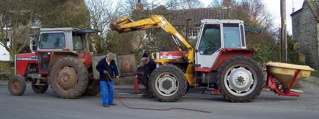 tractor breakdown cropton village