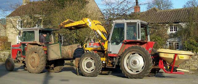 tractor breakdown at cropton village