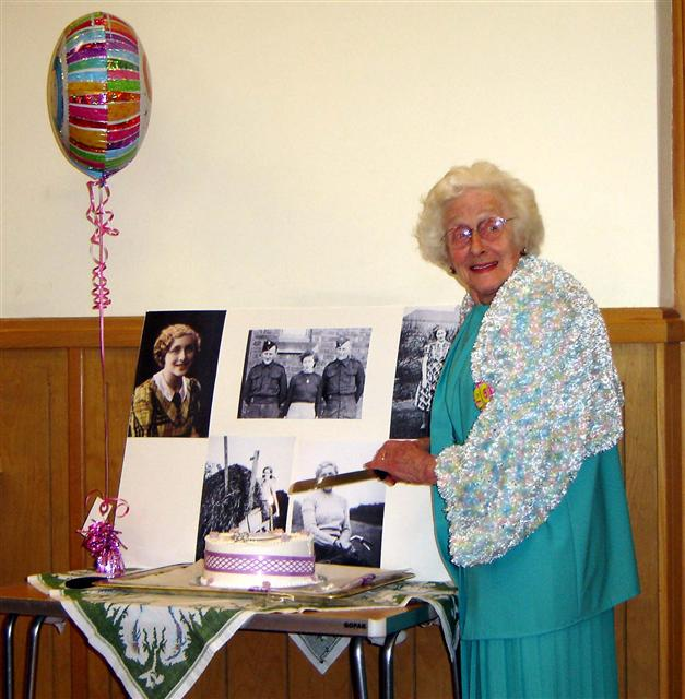 joyce wright 90th birthday party in cropton village hall