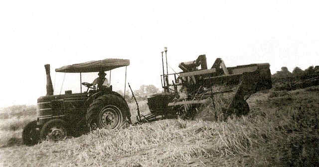 first combine harvester in cropton owned by stephensons