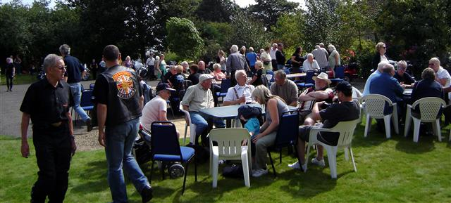 street party at cropton vintage car rally