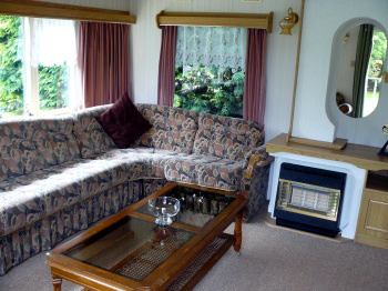 lounge area of whitethorn caravan at cropton