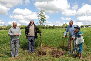 Tree planting at Cropton for Diamond Jubilee 4th June 2012