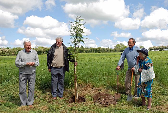 Tree planting at Cropton for Diamond Jubilee 2012
