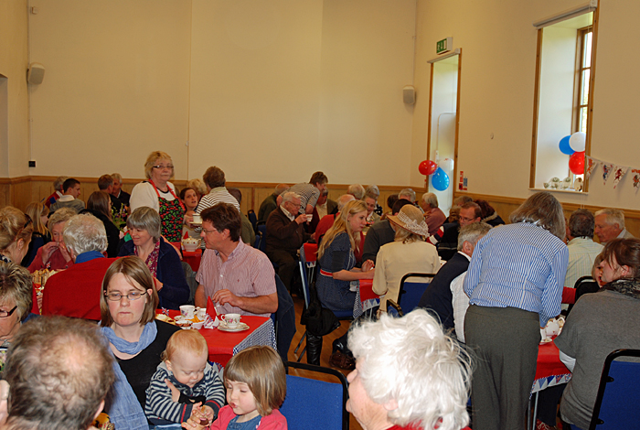Tea party in the village hall - Diamond Jubilee celebrations