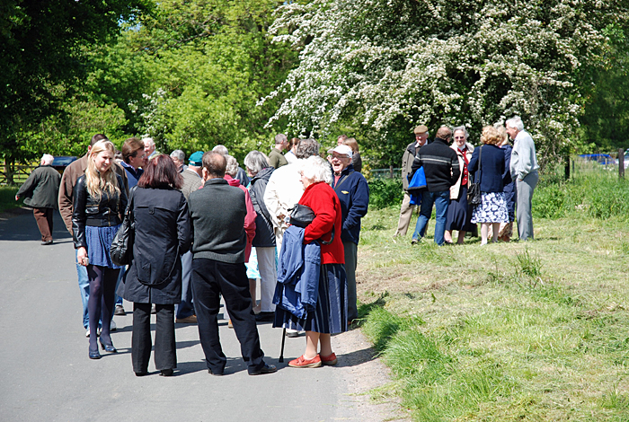 Chatting after the tree planting at the Diamond Jubilee, Cropton