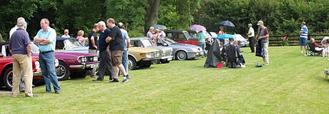 photo of vintage car rally at Cropton 2012