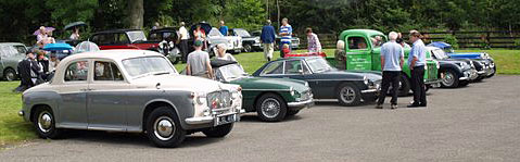 Vintage car and motorcycle rally in Cropton