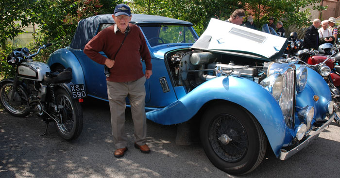 Cropton resident ,John Turner, with Lagonda vintage car
