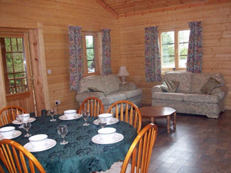 Chloes Lodge Lounge at Sycamore Farm Lodges Cropton