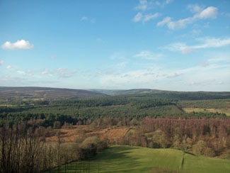 North York Moors View near Sycamore Farm Holiday Lodges Cropton North Yorkshire