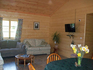 Lounge in Millies Lodge at Sycamore Farm Cropton near Pickering North Yorkshrie