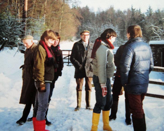 Cropton Carol Singers at Sutherland Lodge on Christmas Morning
