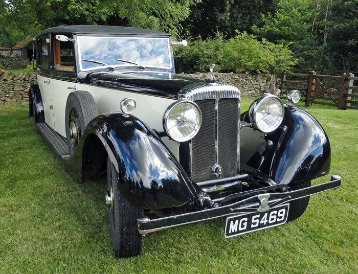 Classic Rolls Royce car at Cropton vintage car rally 2014