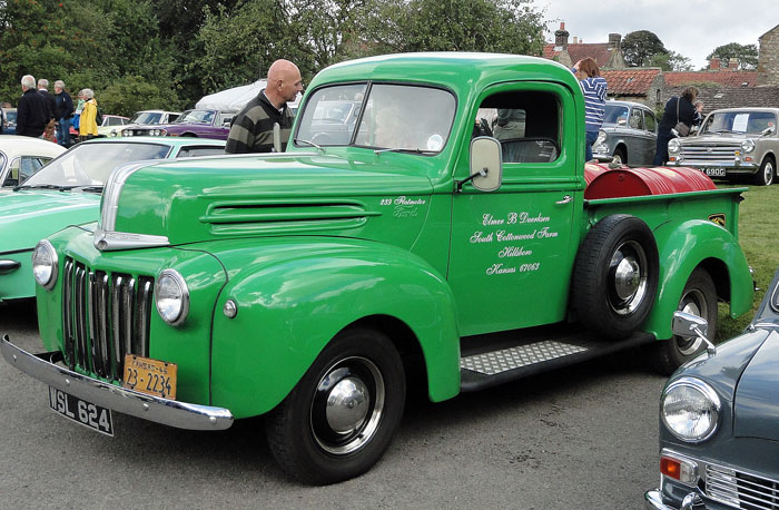 Green Truck at Cropton Classic Car Rally 2014