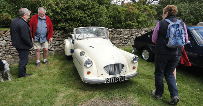 Visitors to Cropton vintage car rally August 2014