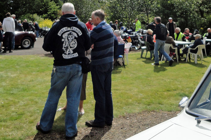 Sons of Anarchy California branch at Cropton Vintage Car Rally 2014