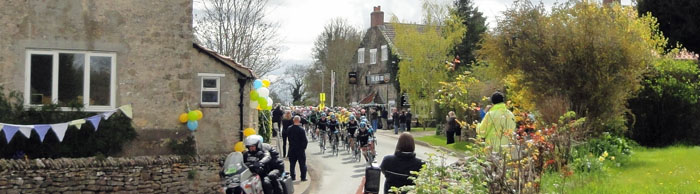 Tour de Yorkshire Peleton going through Cropton North Yorkshire 2015