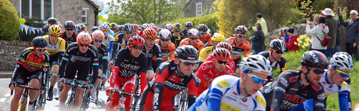 Photos of the Peleton of the Tour de Yorkshire 2015