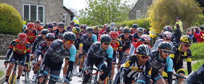 Tour de Yorkshire cyclists at Cropton
