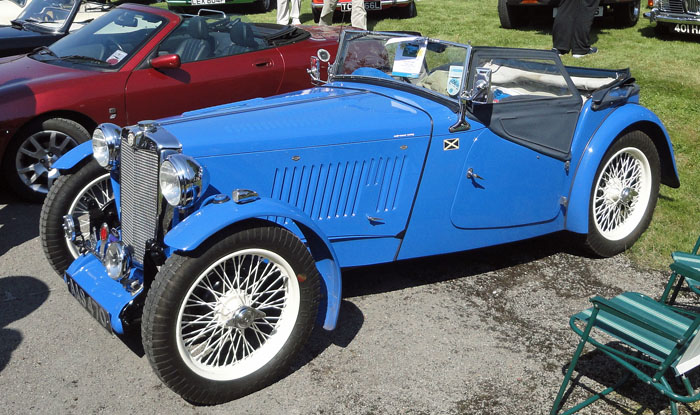 Blue vintage car at Cropton Vintage Rally 2015