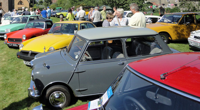 Car rally at Cropton Village Hall 2015