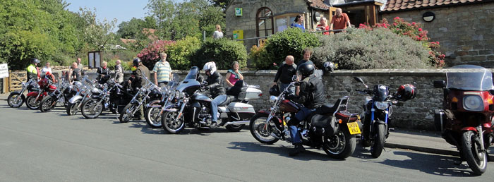 Harley Davidson motorcycles at Cropton Rally 2015