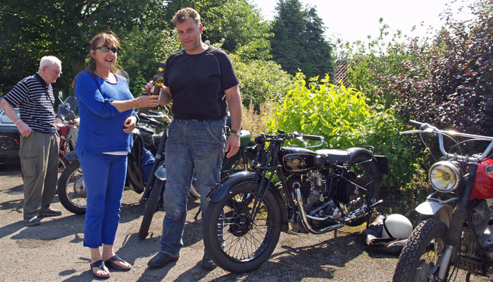 Winner of the best motorcycle at Cropton vintage rally 2015