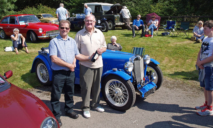 Winner of best car at Cropton Vintage Rally Presented by Geoff Temple
