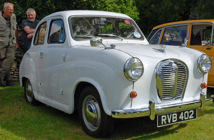 White Austin car at Cropton Vintage Rally 2016