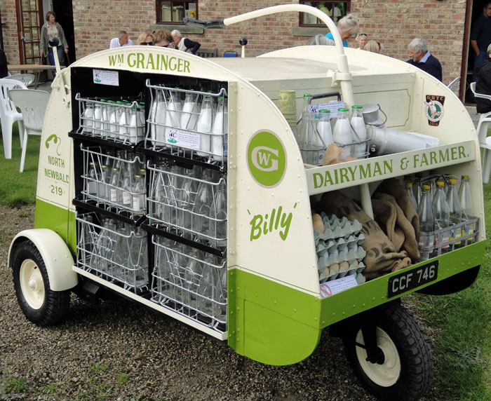 Milk Float at Cropton Vintage Car Rally 2017