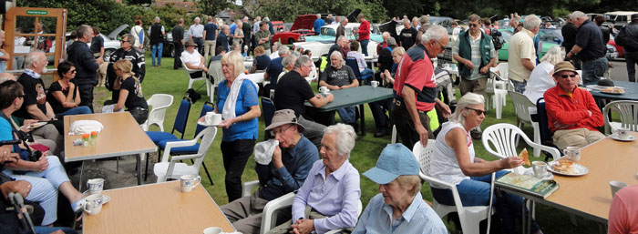 Coffee time at Cropton Vintage Rally 2017