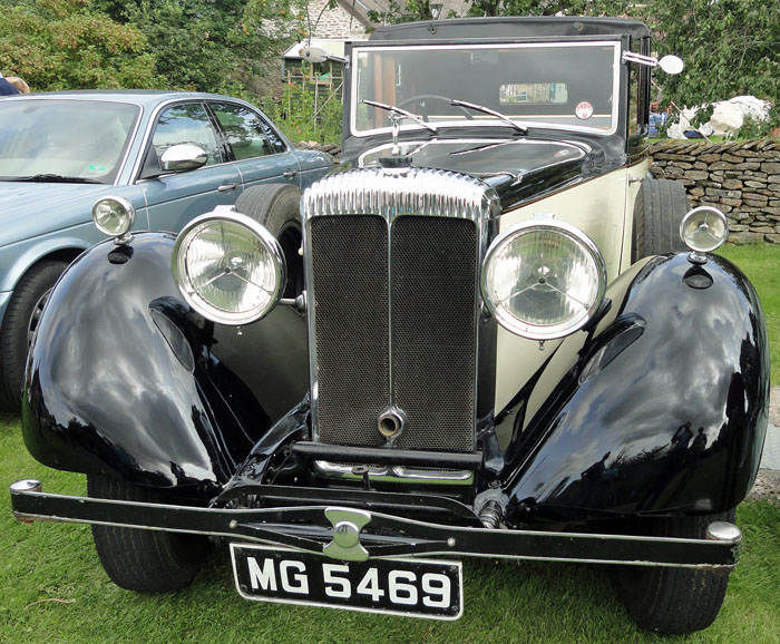 Rolls Royce car at Cropton Rally 2017