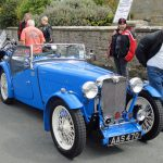 Parking in main street at Cropton Vintage Rally 2017