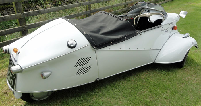White Messerschmidt car at Cropton Vintage Rally 2017
