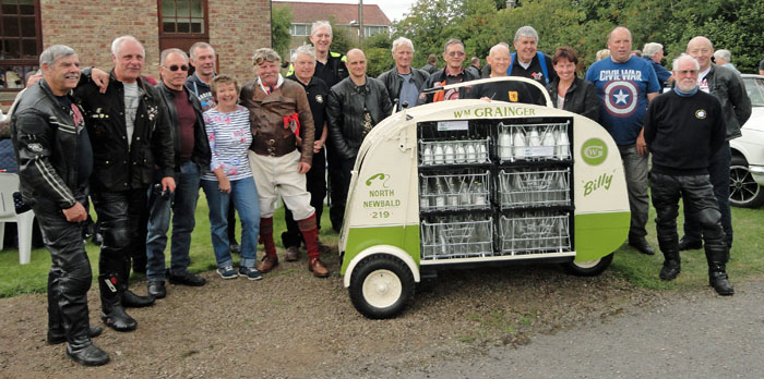 Billy the Milk Float & fans at Cropton Vintage Rally 2017