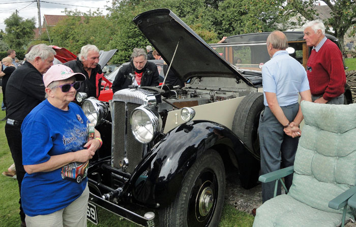 Under the bonnet of Rolls Royce car at Cropton Rally 2017