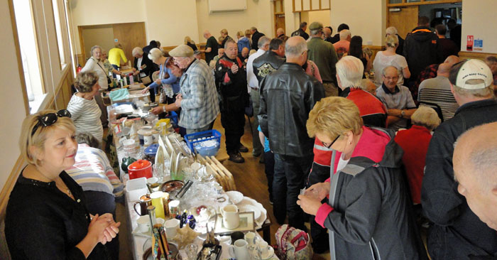 Inside the village hall at Cropton Vintage Rally 2017