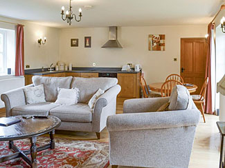 Open plan living area in Bank Top Cottage Cropton - Self catering accommodation for two guests - Cropton near Pickering