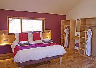 Cropton Lodges photo of double bedroom in Golden Oak 1 Lodge ( Ref LP7556 )