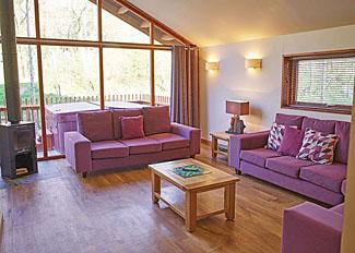Cropton Lodges photo of Golden Oak 2 Lodge living area ( Ref LP5581 )